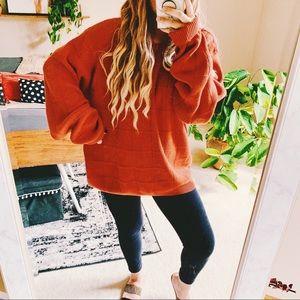Pumpkin spice oversized fall chunky sweater p8